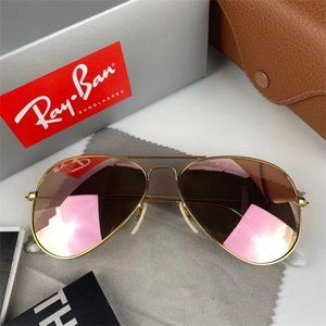 Ray·Ban Aviator silver/pink mirror Sunglasses RB3025*4
